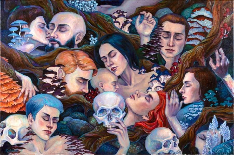 художник Горохова Лиана - картина Mushroom phantasmogoria