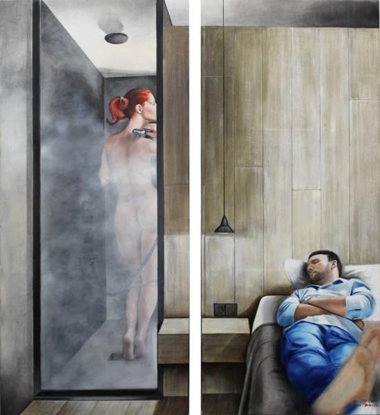 художник Красная Анна - картина В душе диптих